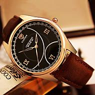 YAZOLE Muškarci Modni sat Ručni satovi s mehanizmom za navijanje Kvarc / PU Grupa Neformalno Cool Crna Smeđa Crn Braon