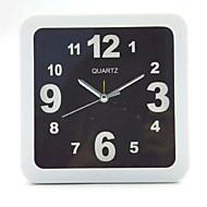 (Uzorak boja je slučajna) trg i okrugli i crne i bijele jednostavne alarm student desktop stolni sat