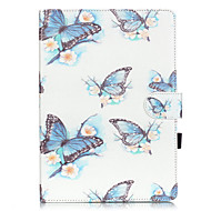 PU Leather Material Butterfly Pattern Painted Embossed Tablet Case for iPad Air 2