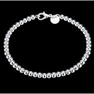 Dames Armbanden met ketting en sluiting Bedelarmbanden oversteekplaats Sierstenen Klassiek Sterling zilver Cirkelvorm Sieraden Zilver