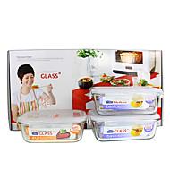 3/set Kuchnia kuchnia Szkło Pudełka śniadaniowe 186*133*68mm,175*130*64mm