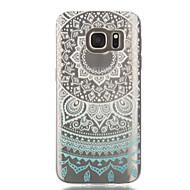 Mert Samsung Galaxy S7 Edge Átlátszó / Minta Case Hátlap Case Csipke dizájn Puha TPU Samsung S7 edge / S7 / S6 edge / S6 / S5