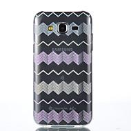 For Samsung Galaxy etui Transparent Etui Bagcover Etui Linjeret / bølget Blødt TPU for Samsung J5 Grand Prime