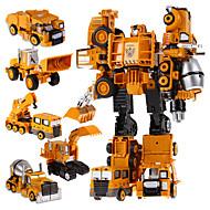 5 i en super helten leker transformasjon roboter handlings biler robot plast barn leker for gutter