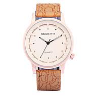 REBIRTH® Men's Fashion Wood Design PU Leather Strap Quartz Wrist Watch Casual Watch Dress Watch