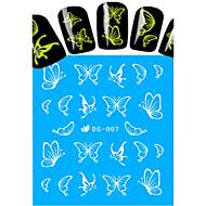 1pcs Nail Art Water Transfer Noctilucent Sticker Beautiful Butterfly Decoration Nail Beauty DG-007