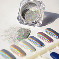1g/Box Holographic Laser Powder Nail Glitter colorful Bright Pigment Manicure Chrome with Eyeshadow
