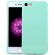 Fekete tok Other Tömör szín TPU Mekano Tok Apple iPhone 7 Plus / iPhone 7 / iPhone 6s Plus/6 Plus / iPhone 6s/6 / iPhone SE/5s/5