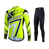 Sportif® Maillot et Cuissard Long de Cyclisme Femme / Homme / Unisexe Manches longuesRespirable / Séchage rapide / Perméabilité à