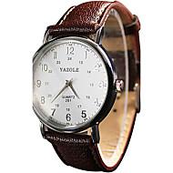 YAZOLE Damen Paar Armbanduhr / Quartz PU Band Vintage Cool Bequem Schwarz Weiß Rot Braun