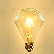 G95 Diamond LED Edison Light Bulb Scene Retro Energy Saving 220V 4W 2300K E27 (Warm Yellow)
