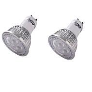 4 GU10 LEDスポットライト MR16 4 SMD 3030 350 lm 温白色 装飾用 AC 85-265 / 交流220から240 / AC 100-240 / AC 110-130 V 2個