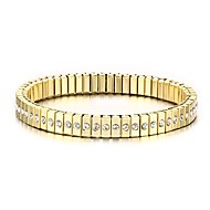 Miesten Ranneketjut Muoti Punk-tyyli minimalistisesta Ruostumaton teräs Tekojalokivi Gold Plated jäljitelmä Diamond Circle Shape Kultainen