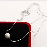 Naszyjniki Pearl imitacja Pearl Strands / Perlový náhrdelník Biżuteria Codzienny / Casual Modny Perłowy / Srebro standardowe Srebrne 1szt