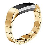 Sort / Rose / Guld / Sølv Rustfrit stål / Metal Sportsrem / Moderne spænde For Fitbit Ur 10mm