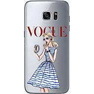Pour Samsung Galaxy S7 Edge Motif Coque Coque Arrière Coque Femme Sexy Flexible PUT pour Samsung S7 edge S7 S6 edge plus S6 edge S6