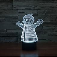 noël bonhomme contact gradation 3d conduit de lumière de nuit lampe atmosphère décoration 7colorful éclairage nouveauté lumière de Noël