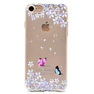 Varten iPhone 7 kotelo / iPhone 6 kotelo / iPhone 5 kotelo Kuvio Etui Takakuori Etui Perhonen Pehmeä TPU AppleiPhone 7 Plus / iPhone 7 /