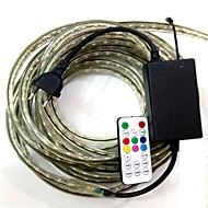 3m / 1pcs eu plugconnect ir 19key controller 220-240V LED RGB waterdichte lamp riem 5050 band tuin licht rgb