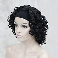 ヘッドバンドの女性のショートカーリー合成半かつらを使用して新しいファッション3/4ウィッグ