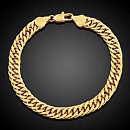 Heren Dames Armbanden met ketting en sluiting Modieus Kostuum juwelen Verguld Cirkelvorm Sieraden Voor Dagelijks Causaal Kerstcadeaus