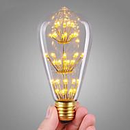 3W LED필라멘트 전구 ST64 47 COB 360 lm 따뜻한 화이트 장식 AC 220-240 V 1개 E27