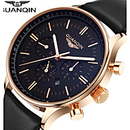 Hombre Reloj de Vestir / Reloj de Moda / Reloj de Pulsera Cuarzo Japonés Calendario / Resistente al Agua / Fase lunar / Luminoso Piel
