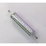 R7S 118mm 72x 2835SMD 10W Warm White / Cool White 900LM 360Beam Horizontal Plug Lights  Flood Light AC85-265V