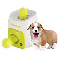 강아지 장난감 반려동물 장난감 볼 인터렉티브 음식 디스펜서 테니스공 플라스틱 그린
