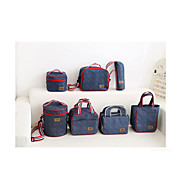 Lunch Bag Hand Bag Ice Pack Thickening Denim Picnic Cooler Bag Lunch Box