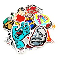 ZIQIAO 100 Pcs/ Pack Random Music Film Vinyl Skateboard Guitar Travel Case Sticker Car Decal Cute Stickers