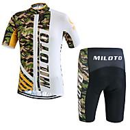 Esportivo Moto/Ciclismo Shorts / Pulôver / Camisa/Fietsshirt / Camisa + Shorts / Conjuntos de Roupas/Ternos Homens Manga CurtaRespirável
