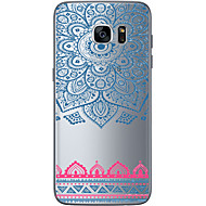 For Samsung Galaxy S7 Edge Transparent Andet Etui Bagcover Etui Geometrisk mønster Blødt TPU for SamsungS7 edge S7 S6 edge plus S6 edge