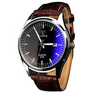 YAZOLE Herren Armbanduhr Quartz / PU Band Cool Bequem Braun Weiß Schwarz