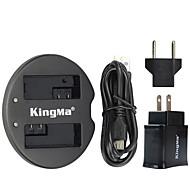 kingmaキヤノン電池用デュアルUSB充電器とキヤノンEOS 550D EOS 600D EOS 650D EOS 700DのUSBアダプタのプラグパワーで