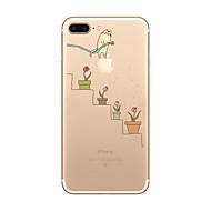 Pour Coque iPhone 7 Coque iPhone 6 Coque iPhone 5 Ultrafine Transparente Motif Coque Coque Arrière Coque Jeux Avec Logo Apple Flexible PUT