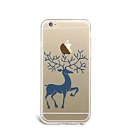 のために 超薄型 / パターン ケース バックカバー ケース クリスマス ソフト TPU Apple iPhone 7プラス / iPhone 7 / iPhone 6s Plus/6 Plus / iPhone 6s/6 / iPhone SE/5s/5