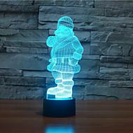 père noël touchez gradation 3d conduit de lumière de nuit lampe atmosphère décoration 7colorful éclairage nouveauté lumière de Noël