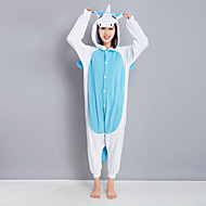 Kigurumi Pajamas New Cosplay® / Unicorn Leotard/Onesie Halloween Animal Sleepwear Blue Patchwork Polar Fleece Kigurumi UnisexHalloween /