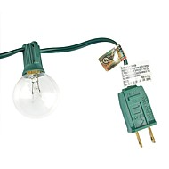 lidore neue g40 Kugelbirne Terrasse Licht-Set. ul-Liste. klare Glühbirnen mit schwarzer Kordel. 25ft lang. geeignet für klassische Innen-
