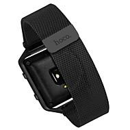 Zwart / Zilver Roestvast staal Milanese lus Voor Fitbit Horloge 23mm