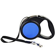 Dog Leash Automatic Solid Blue Nylon / Plastic