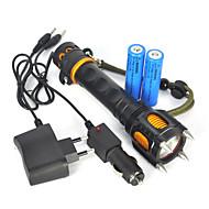 Oświetlenie Latarki LED / Latarki ręczne LED 2500 Lumenów 1 Tryb Cree XM-L T6 18650 SuperlekkieObóz/wycieczka/alpinizm jaskiniowy /