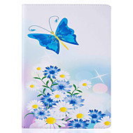 Blue Butterfly Pattern Painted PU Leather Material Card Flat Shell for  ipad Air  Air 2