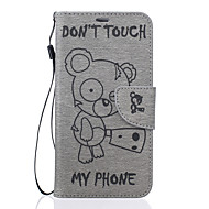 Voor Samsung Galaxy J7 j5 winnie het patroon pu leer materiaal reliëf mobiele telefoon holster