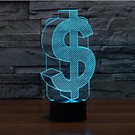 tactile dollar gradation 3d conduit de lumière de nuit lampe atmosphère décoration 7colorful éclairage nouveauté lumière de Noël