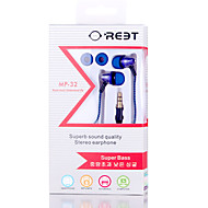 Lovely cute MP-31 In-Ear Braided wire Earphones Earbuds 3.5mm With Mic For xiaomi mp4 mp3