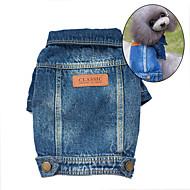 כלבים ז'קטים מג'ינס כחול בגדים לכלבים קיץ/אביב ג'ינסים אופנתי / קאובוי