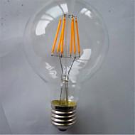6W E26/E27 Lampadine LED a incandescenza G80 6 SMD 5730 420 lm Bianco caldo / Giallo Decorativo V 1 pezzo
