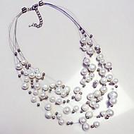 Dames Verklaring Kettingen Parel Parel Cirkel Opvallende sieraden Modieus Europees Meerlaags Sieraden Voor Dagelijks Causaal